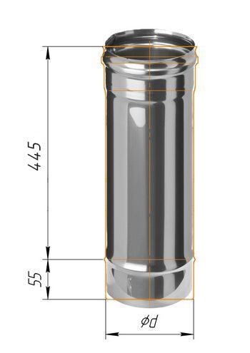 Дымоход 0,5м