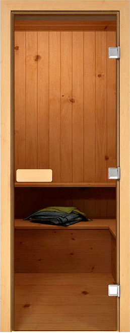 Дверь для сауны прозрачная