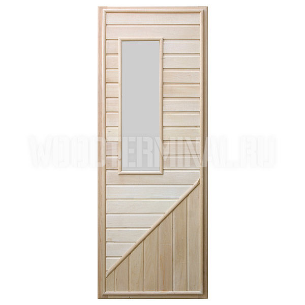 Дверь для сауны липа со стеклом №3